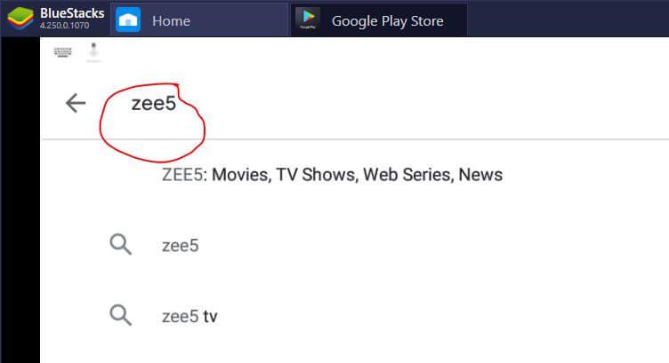 zee5 app download bluestacks emulator