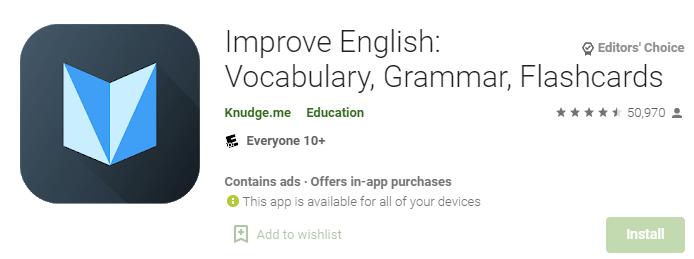 Improve English Vocabulary, Grammar, Flashcards