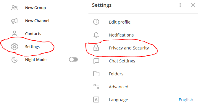 go to setting and privacy and security setting