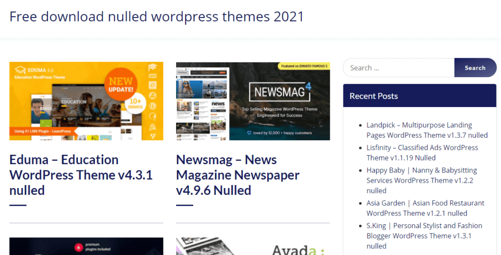 nullled themes sites