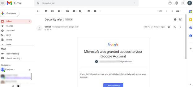 Export Gmail emails in the PDF documents