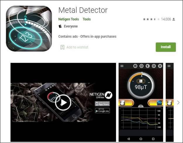 Metal Detector by Netigen Tools