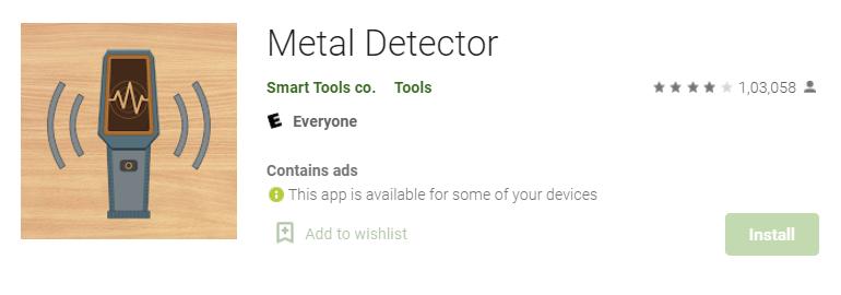 Metal Detector by Smart Tools