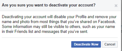 Tap on Deactivate Button