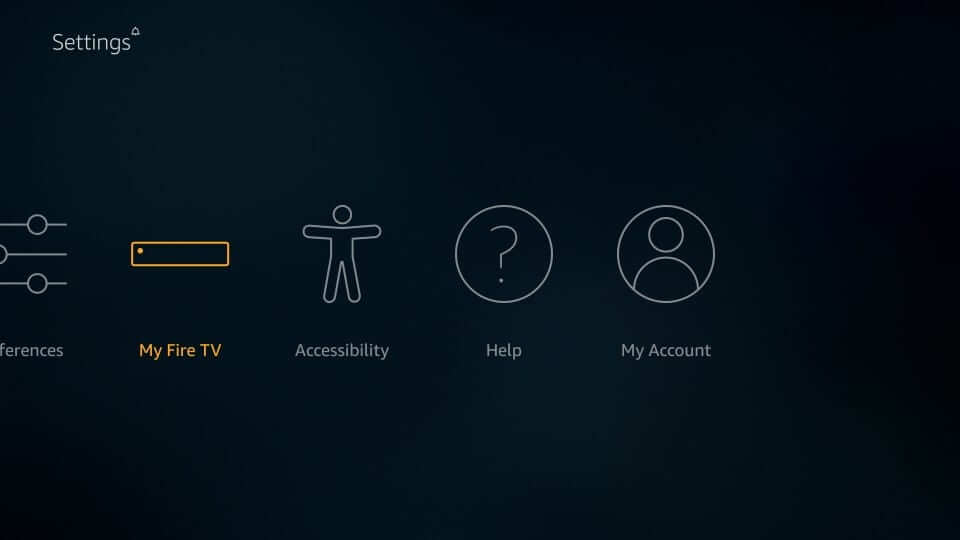 find the My Fire TV option