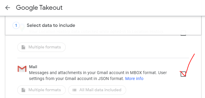 scroll the menu and select Mail