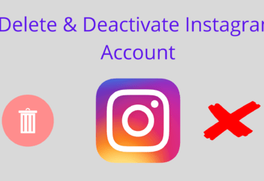How to Delete and Deactivate Instagram Accounts