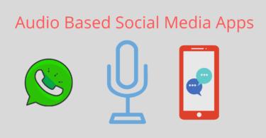 Audio Based Social Media Apps