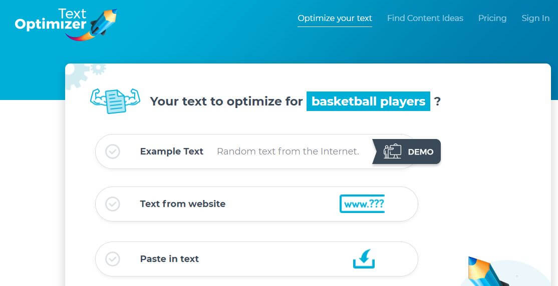 Text Optimizer-Best Free SEO Content Readability Checker Tools Online