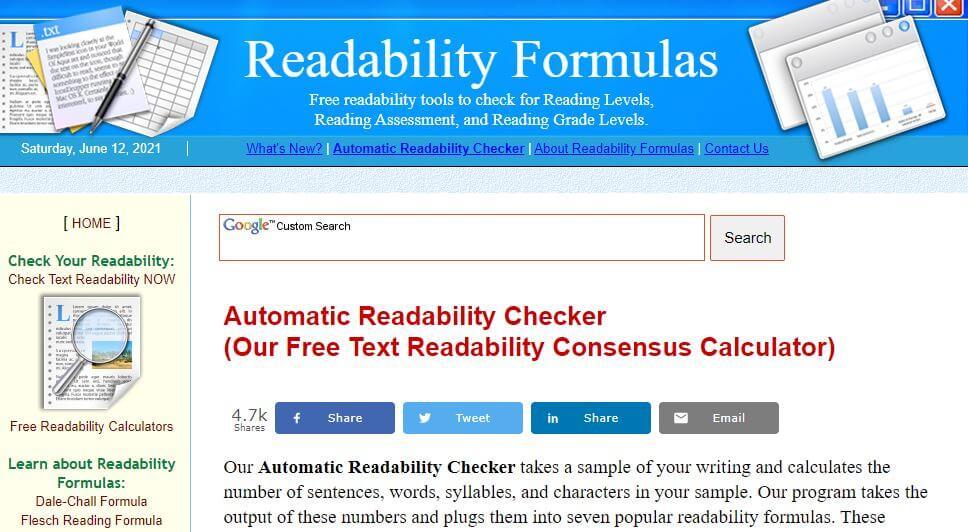 readabilityformulas-Best Free SEO Content Readability Checker Tools Online