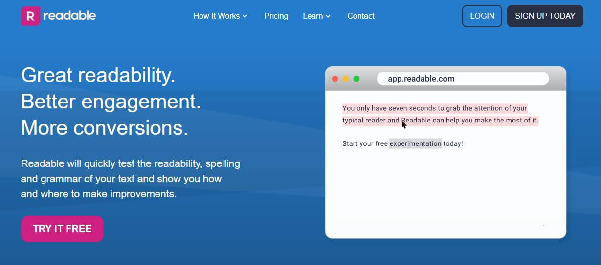 readable-Best Free SEO Content Readability Checker Tools Online