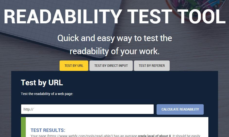 webfx-Best Free SEO Content Readability Checker Tools Online