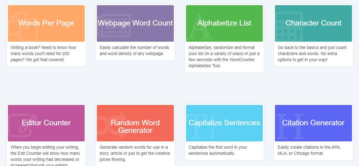 wordcounter-Best Free SEO Content Readability Checker Tools Online