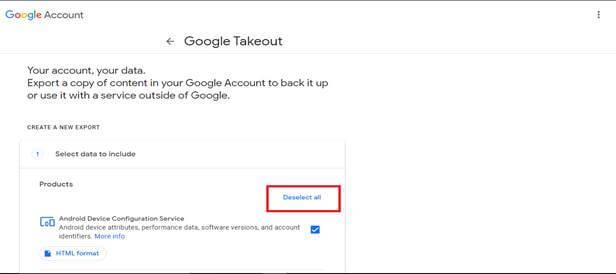 Google Takeout Method