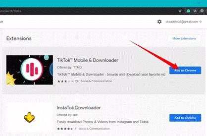 Google Chrome Extension for Tik Tok